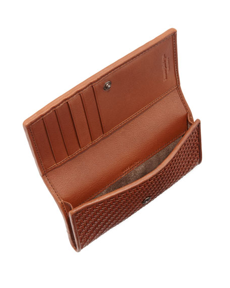 Pelle Tessuta Woven Leather iPhone 7 Wallet, Brown