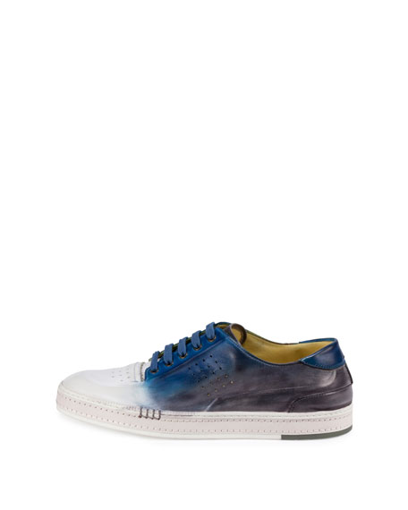 Playtime Spray-Paint Tennis Sneaker, Blue/White