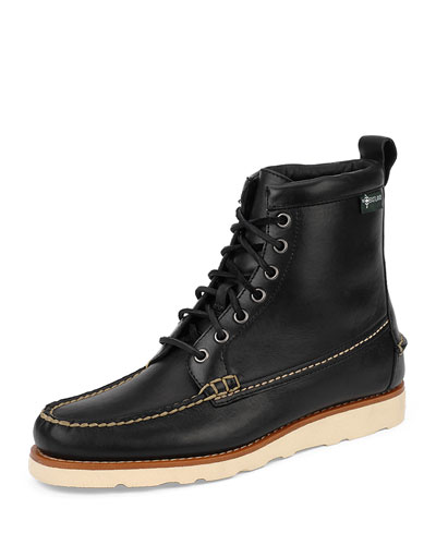 Sherman 1955 Leather Boot  Black