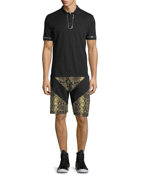 Python-Print Cotton Shorts