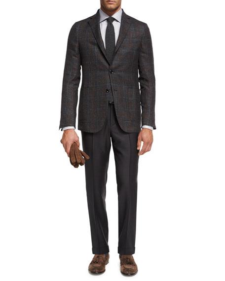 Trofeo® Wool Flat-Front Trousers, Gray
