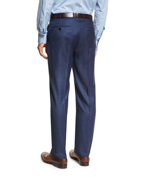 Trofeo® Wool Flat-Front Trousers, Blue