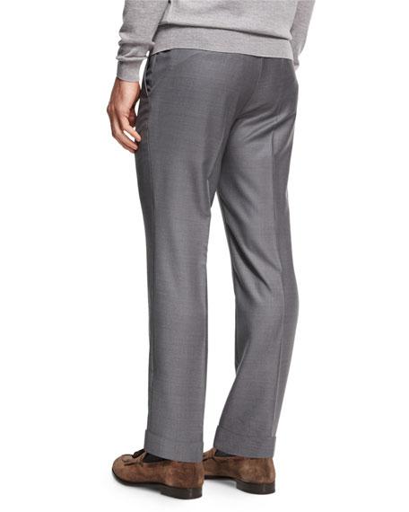 Trofeo® Wool Flat-Front Trousers