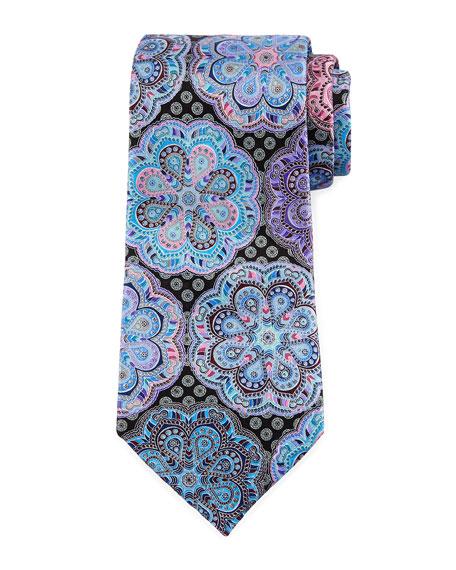 Ermenegildo Zegna Quindici Flower Medallion Tie