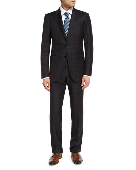 Trofeo® Wool Plaid Two-Piece Suit