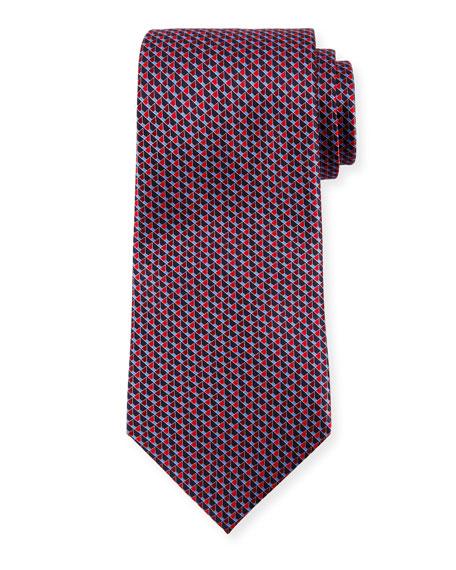 Ermenegildo Zegna Open-Cube Silk Tie