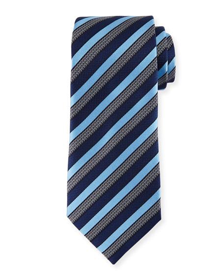 Three-Stripe Silk Tie