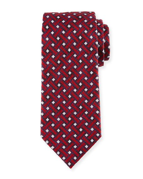 Lattice Silk Tie