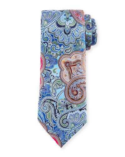 Quindici Paisley Tie, Blue