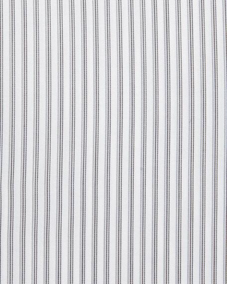 Multi-Stripe Cotton Dress Shirt, Light Gray