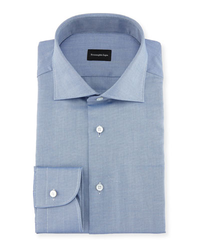 Cotton Pique Dress Shirt