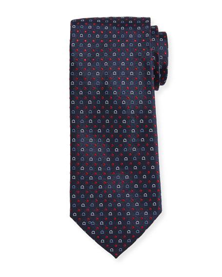 Salvatore Ferragamo Gancio & Dot Silk Twill Tie
