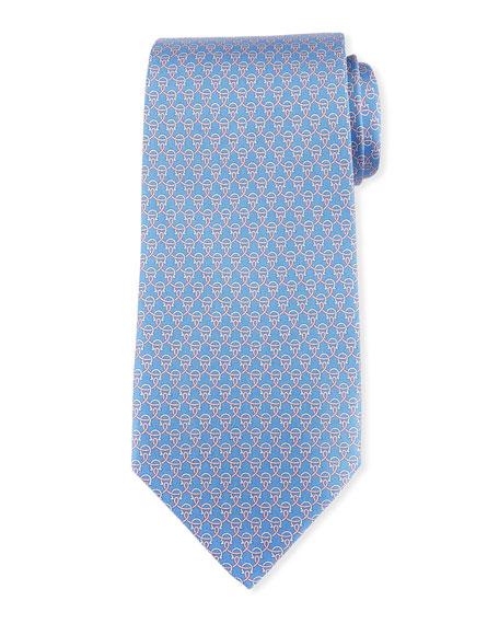 Lasso Gancio Silk Twill Tie, Blue