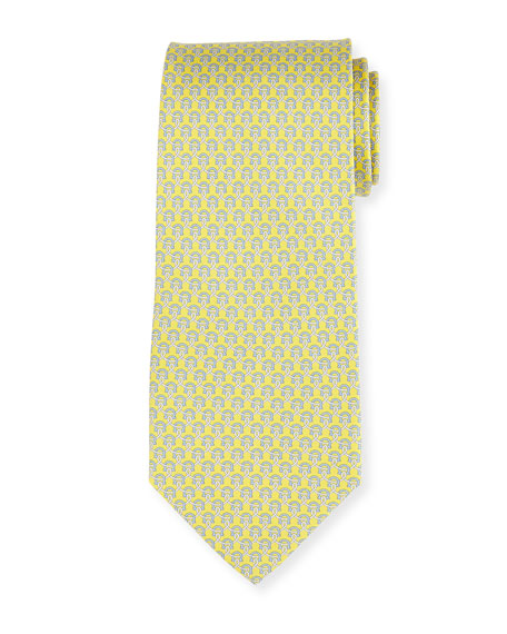Lasso Gancio Silk Twill Tie, Yellow