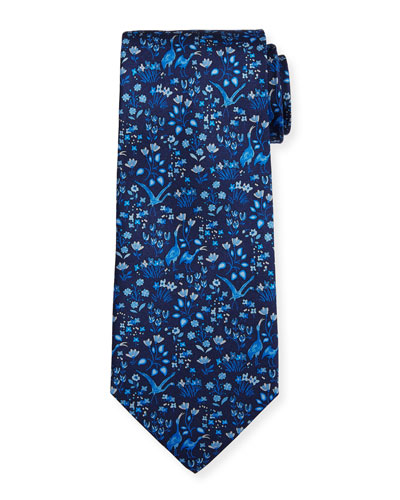 Darly Floral Silk Tie