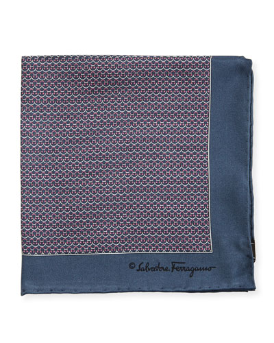 Party Gancini-Print Pocket Square