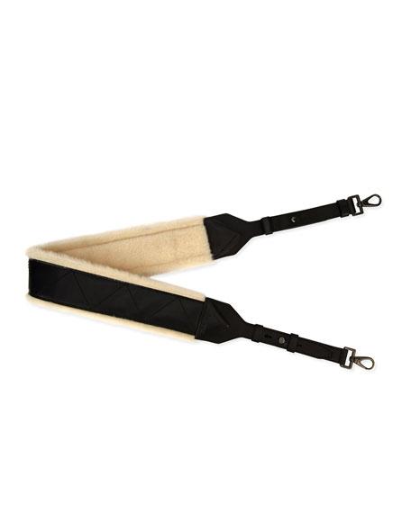 Salvatore Ferragamo Firenze Glow Leather & Shearling Strap