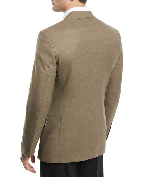 Shelton Peak-Lapel Canvas Sport Coat