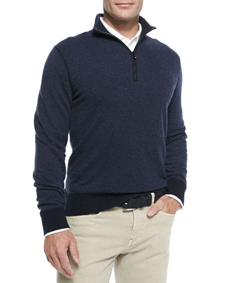 Roadster Half-Zip Cashmere Sweater