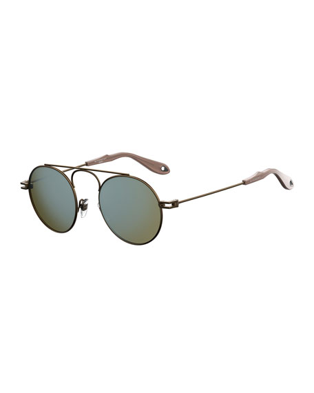 Men's GV 7054 Small Round Sunglasses