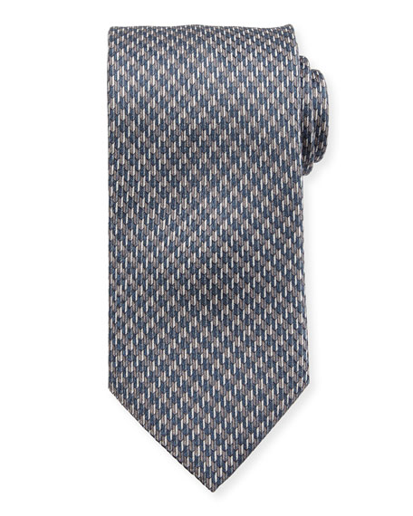 Brioni Silk Houndstooth Tie