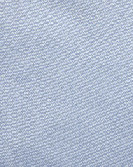 Textured Micro-Diamond Dress Shirt, Blue