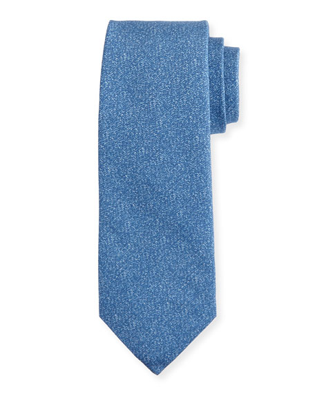 Isaia Mélange Silk-Cotton Tie