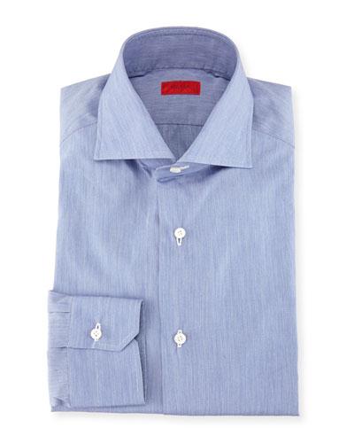 Slim-Fit Basic Solid Cotton Dress Shirt