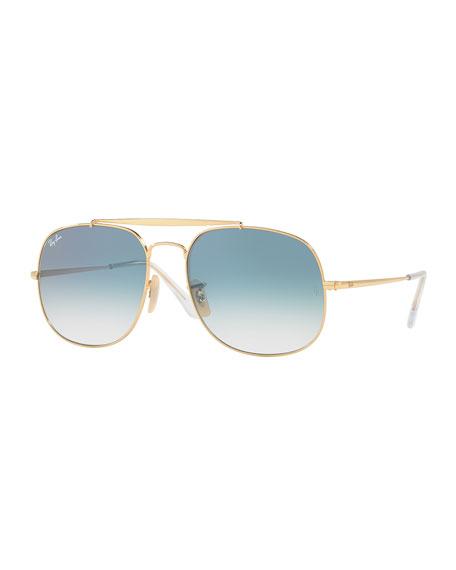 The General Aviator Sunglasses, Golden