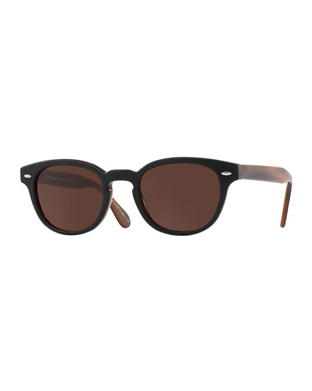 Oliver Peoples pour Berluti Sheldrake Leather 49 Round