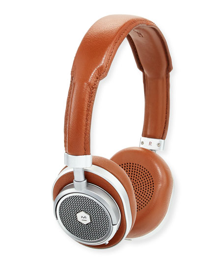 MW50 Wireless Over-Ear Head Phones, Silver/Brown