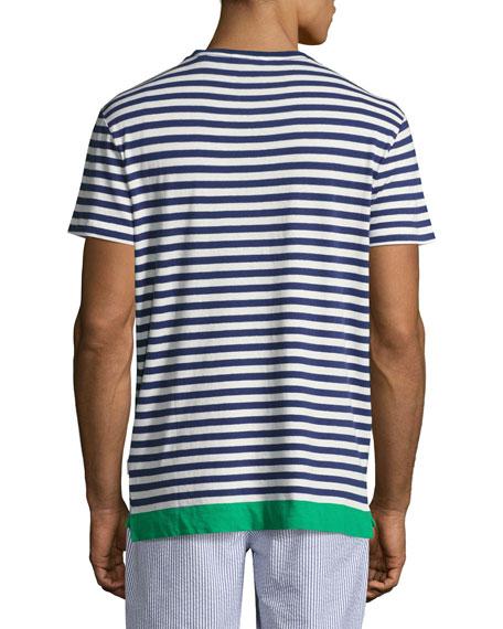 Sammy Striped Contrast-Hem T-Shirt