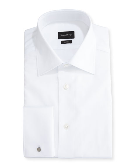 Trofeo® Solid French-Cuff Dress Shirt, White