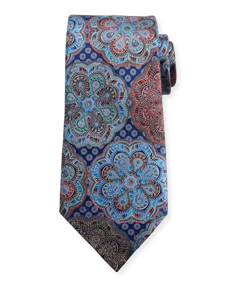 Quindici Circle Flower Medallion Tie