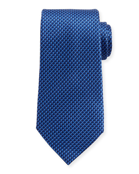 Ermenegildo Zegna Tonal 3D Diamond Tie, Navy