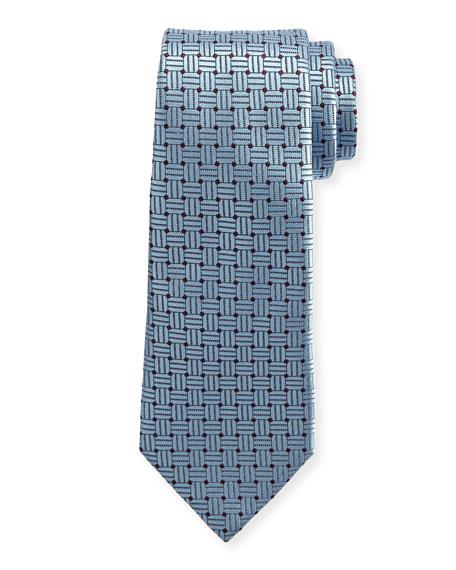Ermenegildo Zegna Braided Neat Silk Tie