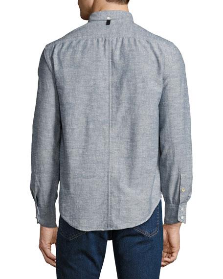Tomlin Slim-Fit Chambray Sport Shirt, Indigo