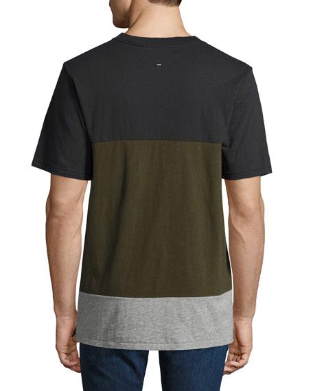 Precision Block Crewneck T-Shirt, Green/Black
