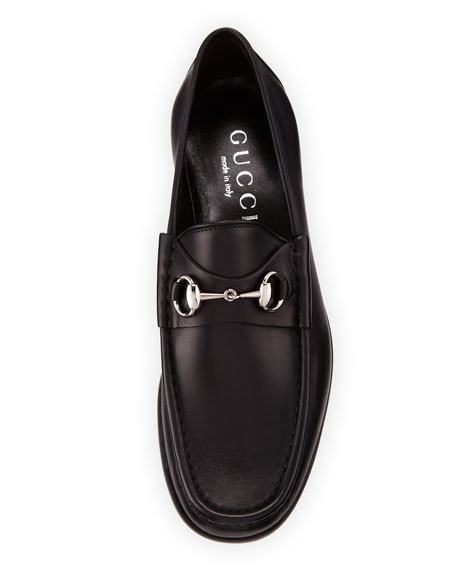 bcda0c3dfdf Gucci Classic Leather Horsebit Loafer