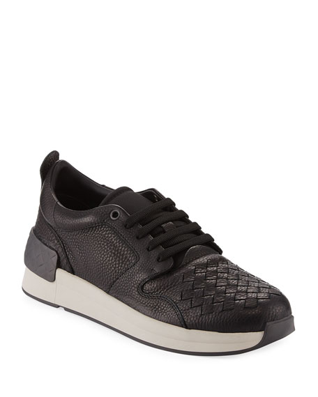 Bottega Veneta Intrecciato Leather Low-Top Sneaker