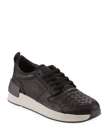 Intrecciato Leather Low-Top Sneaker