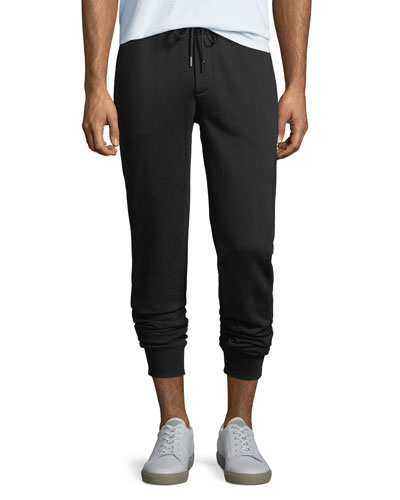 Drawstring Jogger Sweatpants, Black