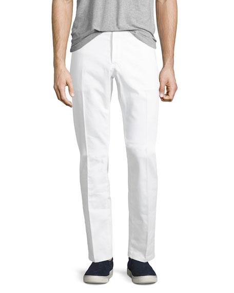 Straight-Leg Denim Jeans, Optical White