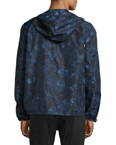 Camu Butterfly Zip-Front Jacket, Navy