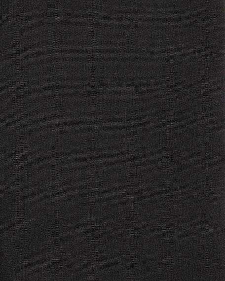 Stretch-Cotton Basic Shirt, Black