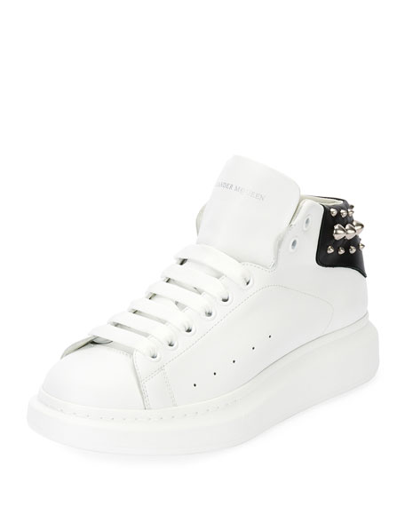 Alexander McQueen Men's Studded Leather High-Top Sneakers,
