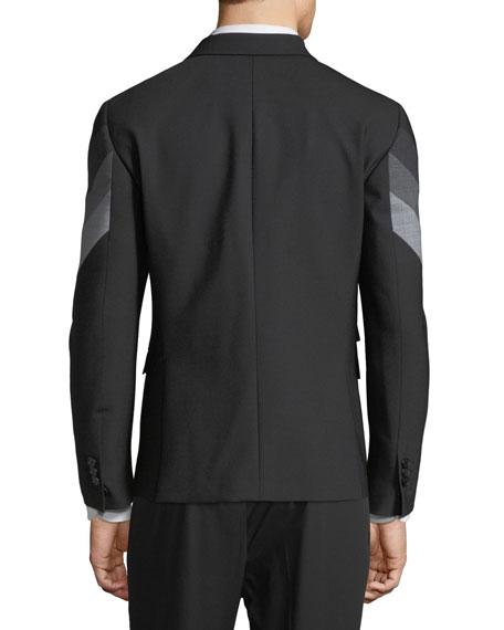 Retro Modernist-Stripe Blazer