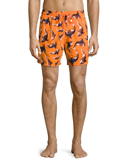 Limited Edition Mistral Embroidered Whale Swim Trunks