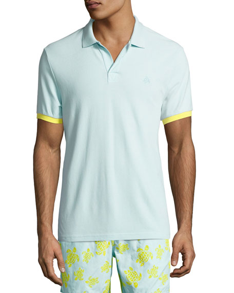 Color-Band Piqué Polo Shirt