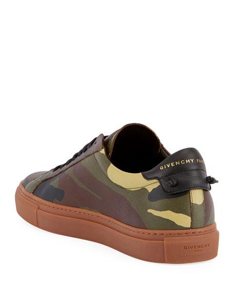 Urban Street Camouflage Leather Low-Top Sneaker, Multi